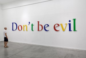 Don't be evil slogan Google