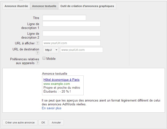 creation des annonces remarketing