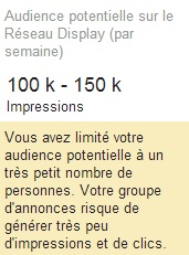 taille liste remarketing